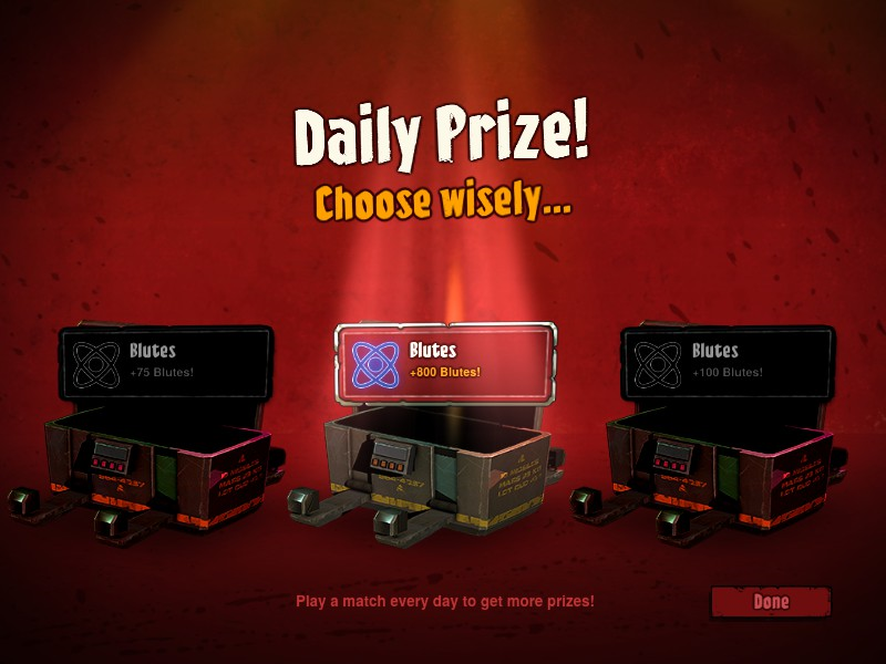 Daily prizes