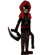 Red Hood mask on