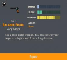 Balance Pistol Info