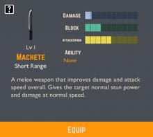 Machete Info