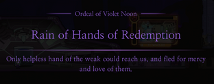 Violet Noon Rain of Hands of Redemption Message