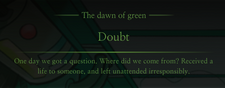 GreenDawnDoubtMessage