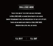 Challenge Mode Message
