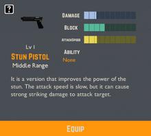 Stun Pistol Info