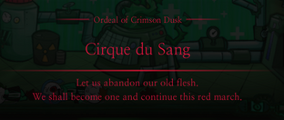 Crimson Dusk Cirque du Sang Message