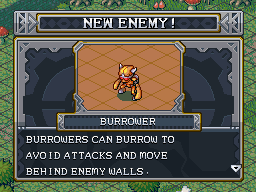 New enemy burrower