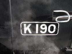 K190 cabplate