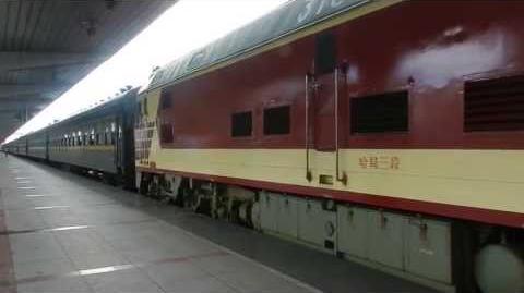 China Railways DF4D 3182 departing Jiamusi railway station
