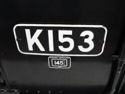 K153 cabplate
