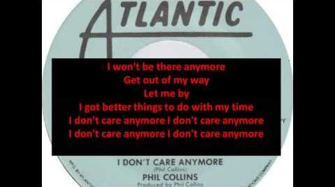 *Lyrics*- I Don't Care Anymore- Phil Collins HQ