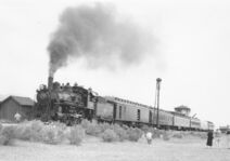 NN 40 with charter train May 31 1958