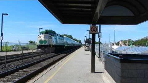 GO Transit Lakeshore East, arriving at Rouge Hill GO