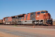 BHPB Iron Ore SD70ACe 565 and 4352