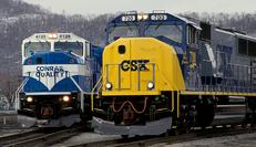 Modern CSX and Conrail EMD units