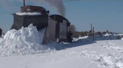 Strasburg Railroad Plowing the Line