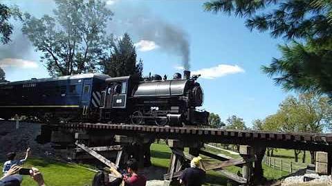 Mack The Tank Engine on Bluegrass RR Museum tracks, 9 10 17