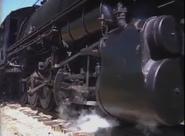 The wheels of the locomotive