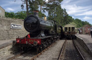 Parkend railway station MMB 10 3717 'City of Truro'