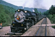 SOU 2716 Southern Railway Steam 2-8-4 at Duffield, Virginia