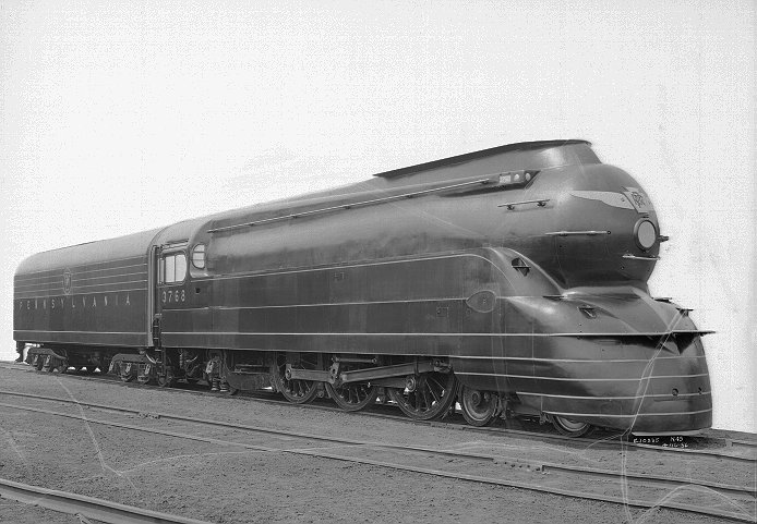 Pennsylvania Railroad Streamlined K4 4-6-2 Steam