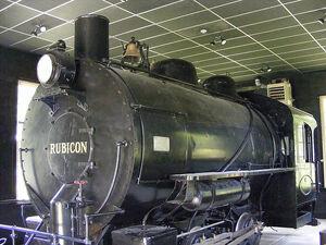 Rubicon steam locomotive at Carrollon Park