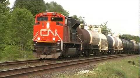 CN freight RACES VIA train!!