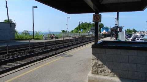 VIA Train 56 54 (J-Train) passing Rouge Hill GO Station (EDITED)