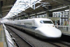 Shinkansen700 in Kyoto juli 2004