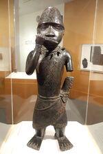 Figure of a Horn Blower, Edo people, Benin, Edo state, Nigeria, c. 1504-1550, copper alloy - Brooklyn Museum - Brooklyn, NY - DSC08506.JPG