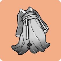 Hua diao - indigo ruqun robe