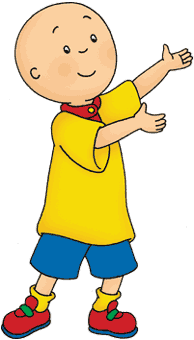 Caillou standing