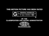 MPAA Rating IDs