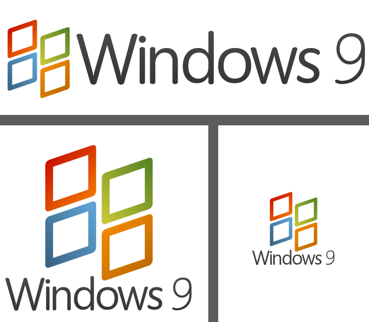 Windows 9 Logo Idea Fanart By Kevboard D4hp2m5