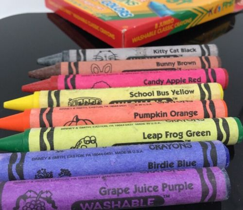 image crayola kids first jumbo washable crayons fun color names to