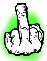 Middle finger by chanyard