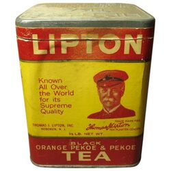 Lipton old package tea