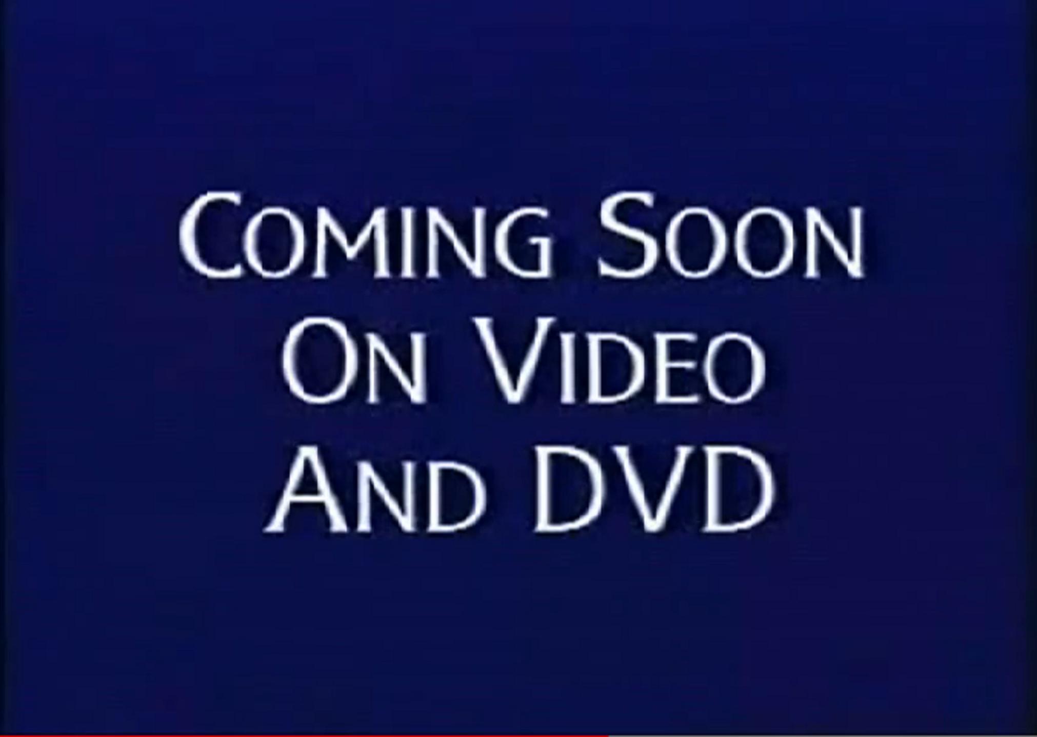 Walt Disney Studios Home Entertainment Buena Vista Coming Soon On Video & DVD Logo 1998