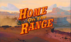 Home on the range title card disney