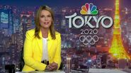 NBC Tokyo 2020 logo on an 2019 episode of NBC Nightly News