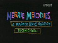 Merrie Melodies classic title card 2