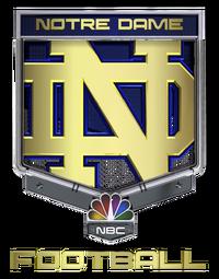 Notre Dame Football on NBC logo