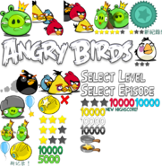 ANGRY BIRDS 2009 MENU ELEMENTS 1