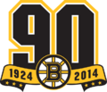Boston Bruins logo (90th anniversary)