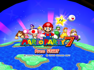 Mario Party 7 Title Screen