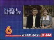 WBRC-TV Channel 6 Regis and Kathy Lee promo 1994