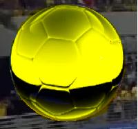 Bola de Logotipo da Rede Globo no Futebol na Globo 2009 Versão Jogos do Brasil