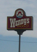 Wendy's Late '90s Sign