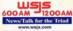 WSJS 600 1200 AM