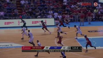 PBA on ESPN5 scorebug 2019 Commissioner's Cup Finals