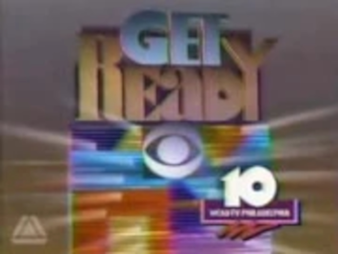 CBS-TV's Get Ready For CBS Video ID With WCAU-TV Philadelphia Byline From Late 1989